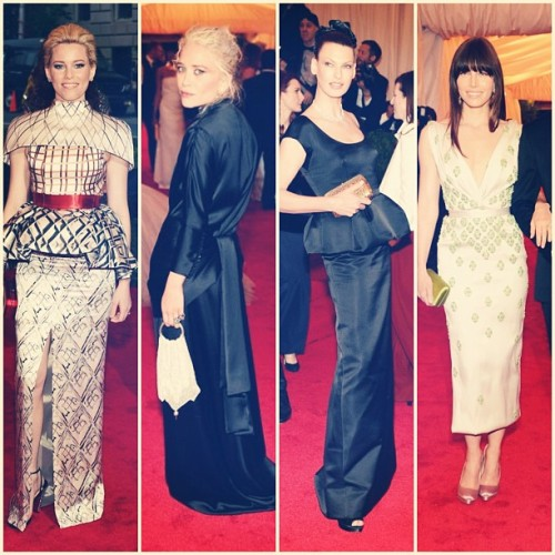 And #metgala least favorites are Elizabeth Banks in Mary Katrantzou, Mary Kate Olsen in The Row, Linda Evangelista in Prada and Jessica Biel mostly because of the fucked up hem on her Prada dress. #fashion #worstdressed  (Taken with instagram)