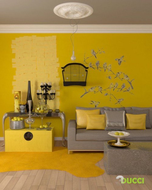 homedesigning:  (via Yellow Room Inspiration: 55 Rooms For Your Viewing Pleasure)