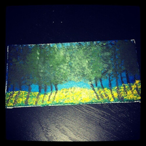 My painting on mini canvas (: (Taken with instagram)