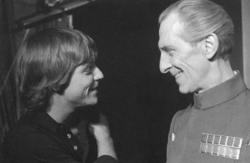 retrostarwars:  Mark Hamill and Skeletor share a light moment between takes.