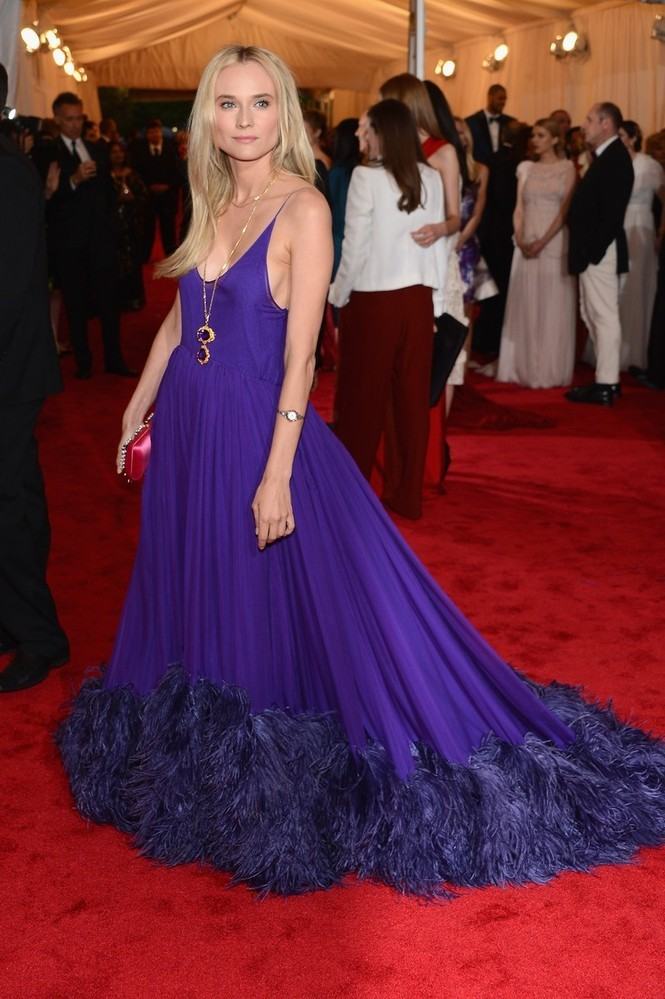 Diane Kruger in Prada at the 2012 Costume Gala, May 7th This just made me even more excited to see what she's going to wear as a juror member at Cannes.