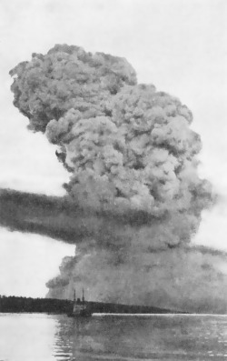 Halifax explosion, the largest explosion in history before the atomic bomb (1917).