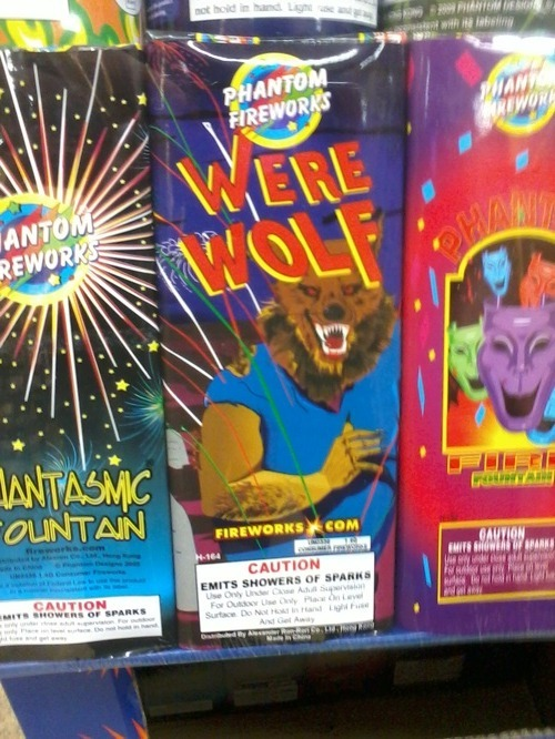 Spark-emitting werewolf looks a little chunky…