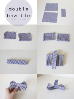 How to double bow tie.