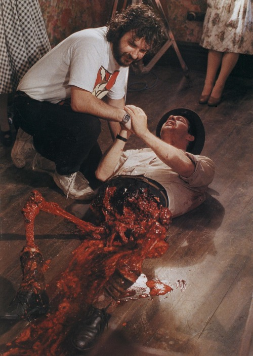 panicbeats:  Peter Jackson on the set of Braindead, 1992