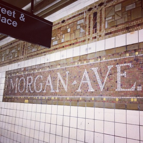 Margan ave #usa #nyc #subway #L (Taken with instagram)