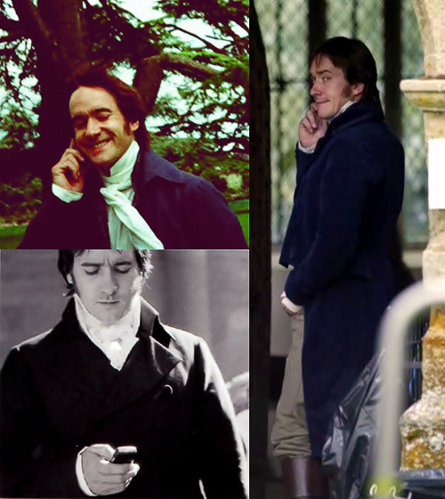 """Darcy pops in and out of the film, so I wasn´t there for the whole time. I just sort of wandered around on set texting my wife, who was six months pregnant."" (Matthew Macfadyen)"