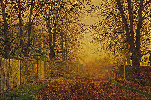 (via John Atkinson Grimshaw - A Golden Shower | Gandalf's Gallery)