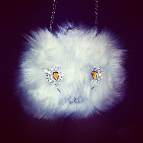 White Prada Cat Bag. :) (Taken with instagram)