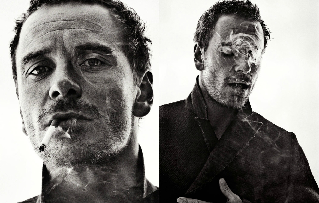 Michael Fassbender by Sebastian Kim A talented photographer, a charismatic actor and a cigarette: Sometimes, it only takes so little to make a strong visual statement. Born in Vietnam and raised in Tehran, Paris and California, photographer Sebastian Kim began his career assisting the legendary Richard Avedon and Steven Meisel. For Interview Magazine he shot actor of the moment Michael Fassbender in black and white. (via Sebastian Kim)