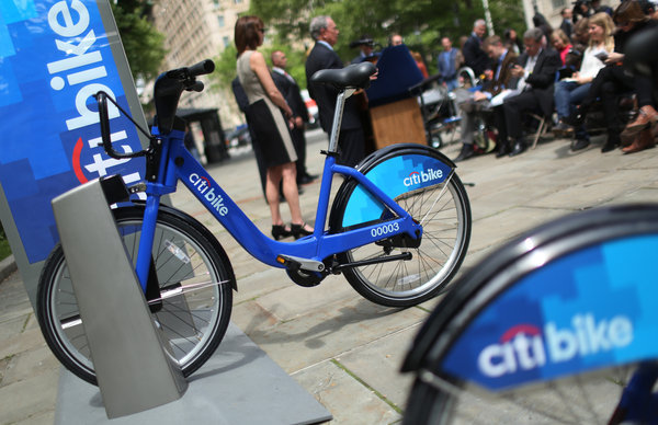 Citibank Pays to Put Name on Shared Bikes.