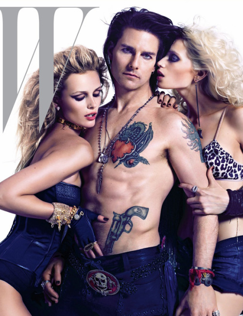 49-yr-old Tom Cruise doing his best Jared Leto impression as Stacee Jaxx on the cover of W. Nice bit of promo for the show-turned-film Rock of Ages due out this summer.