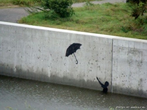 by Banksy, graffiti artist