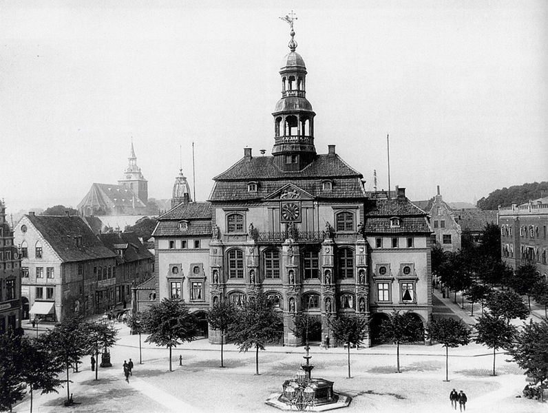 The City Hall in 1900, Lüneburg