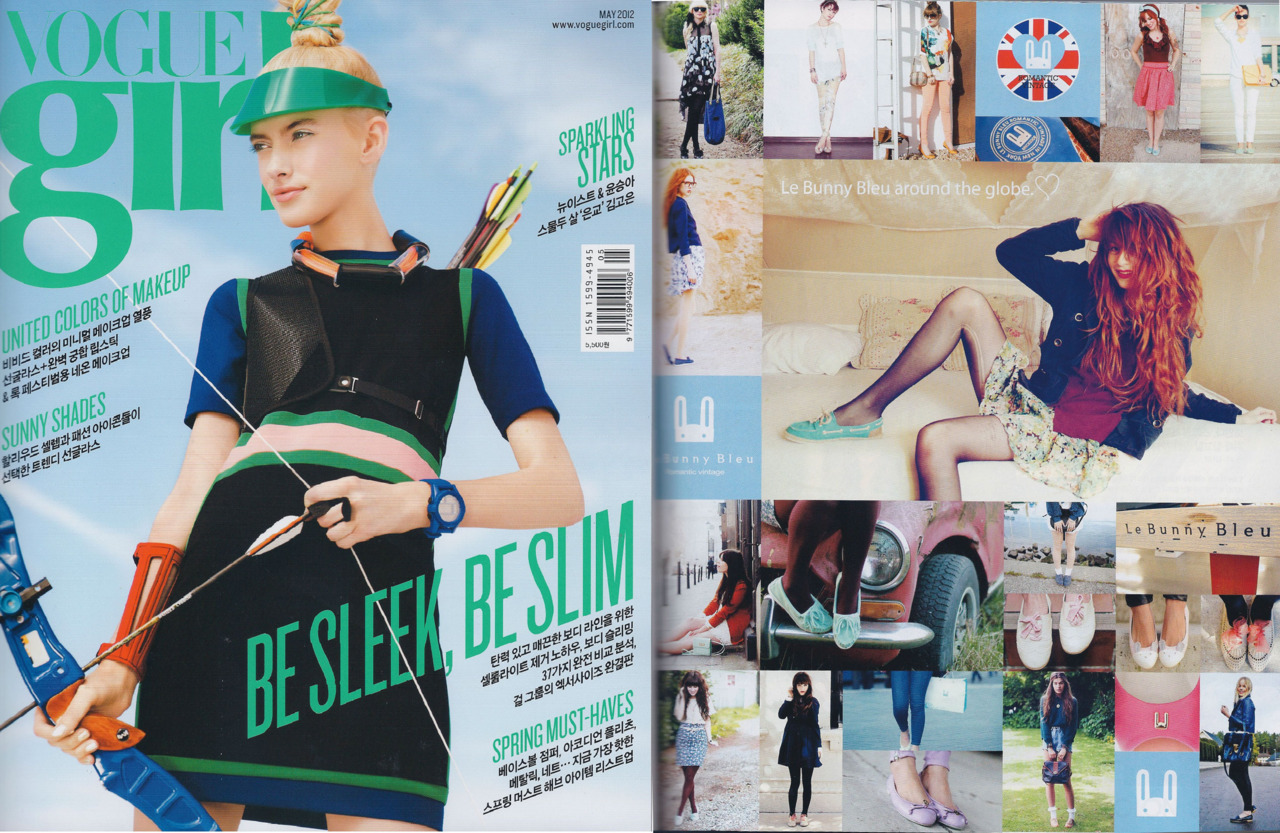 in the korean vogue for le bunny bleu!