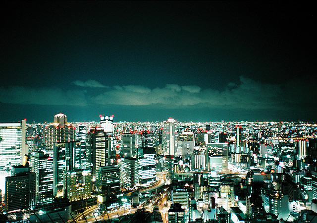 whateveryou-like:  osaka night view by arigato39 on Flickr.