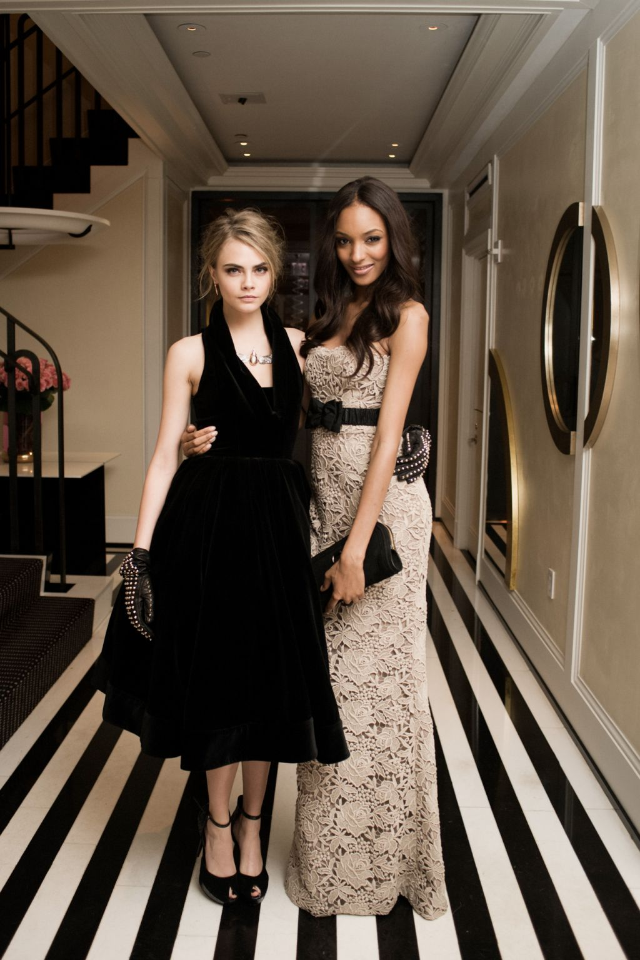 booteeq:  Just tweeted by @Burberry …Cara Delevinge & Jourdan Dunn looking gorgeous in their Burberry attire ahead of the Met Ball 2012!  https://twitter.com/#!/Burberry/status/199813196482228224/photo/1