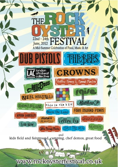 Get your Oysters Rockin' at Rock Oyster Festival http://www.rockoysterfestival.co.uk/. It's way down west in a place called Rock in Cornwall. Check it out and see you there x