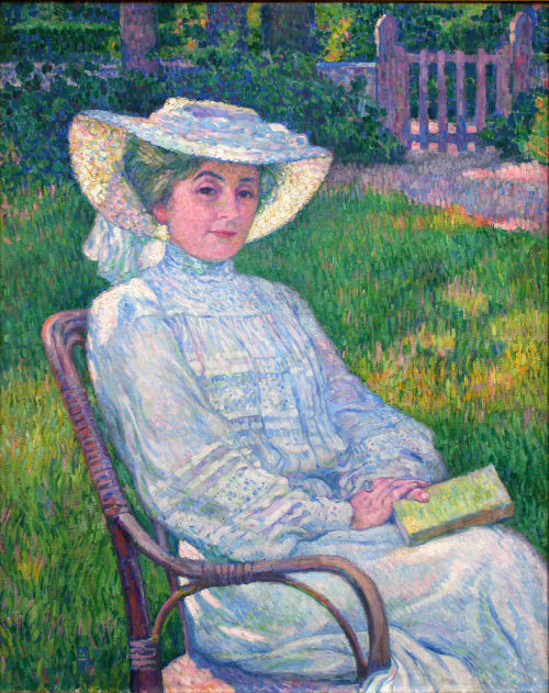 Theo van Rysselberghe, Lady in White - Portrait of Mrs. Théo Van Rysselberghe