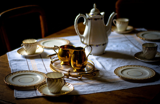 | ♕ |  Teatime from the past - Turf-house museum  | by © Zanthia