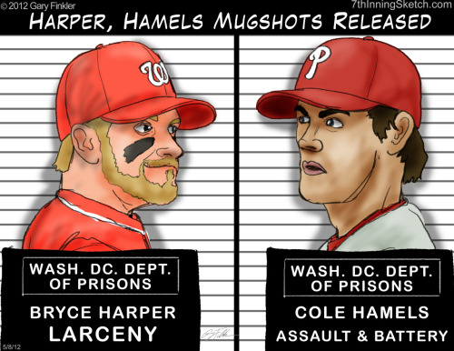 Harper, Hamels Mugshots Released