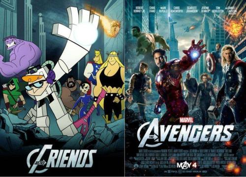 justice team vs the avengers strangely similar