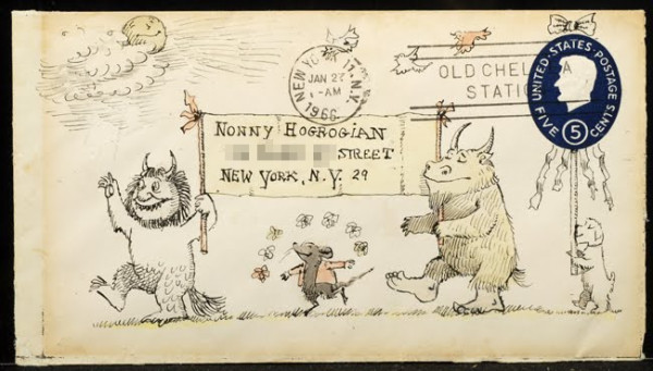 "theatlantic:  ""This is how Maurice Sendak sometimes sent his letters. Just imagine getting one."" (via Letters Of Note)"