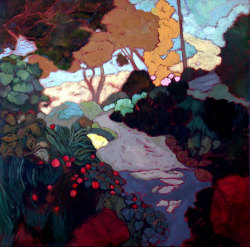 iamjapanese:  Karin Daymond(South African, b.1967) Elise's Path Oil On Canvas