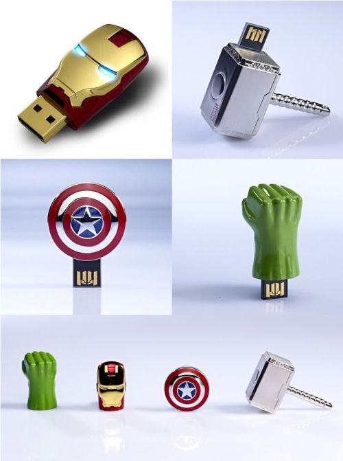The Avengers USB sticks via gadgetreview.com