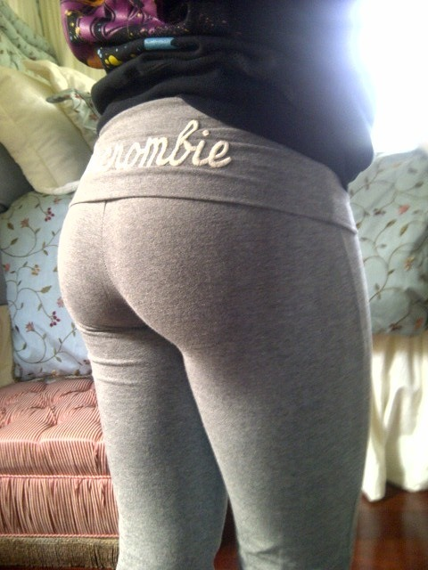 "muffintop-less:  This is my glute update HAHA Leaving for the gym soon to train it! I tried for a long time to change the shape and size of my butt… Pilates, leg lifts.. those silly ""butt toning"" exercises you see in women's magazines. The ONLY thing that changed the size and shape of this derrière was barbell squats, stiff-leg deadlifts, weighted lunges, leg presses and other weight-bearing exercise. Thanks to BODYBUILDING workouts, it is finally becoming something I'm PROUD of instead of embarrassed by.  The thing is definitely growing (as my mom and dad have both assured me). For the first time, I'm actually PROUD of it. I used to have a small pancake butt (my mom affectionately referred to it as a ""teacup butt""… as in it could fit in a teacup) -__- Well, let's just say she no longer refers to it as such! ;)"