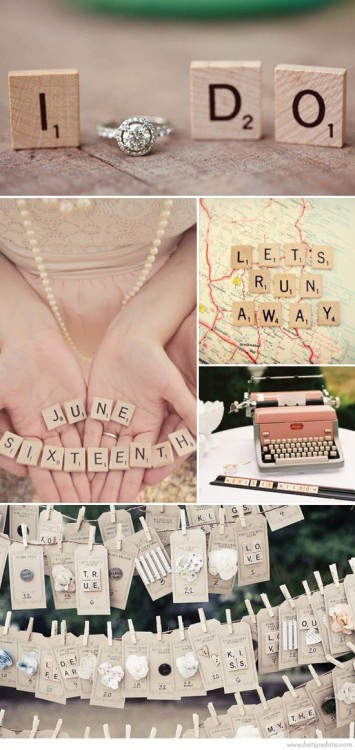 Fun with scrabble letters! a great prop on photo's!