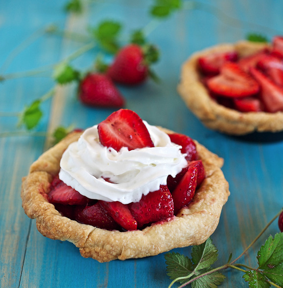 bakeddd:  fresh strawberry mini pies click here for recipe