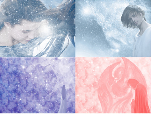 New Dragon Aster wallpapers: Sybl, Nafury, Cirrus and Sybl, and the Phoenix and Kas.