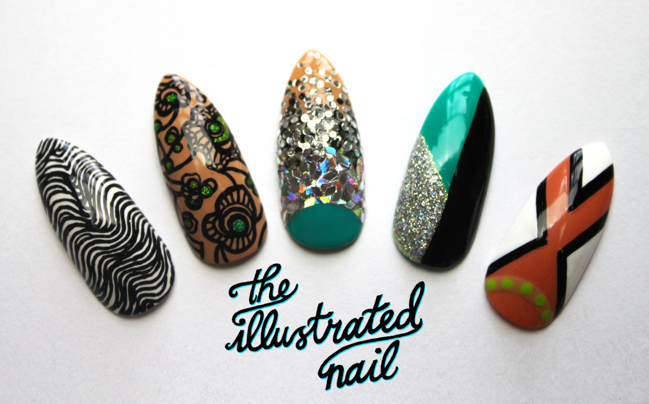 Manish Arora Spring/Summer 2012 Catwalk-Inspired Nail Set by theillustratednail