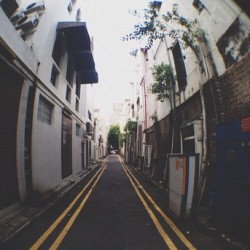 Trying out my fisheye lens #alley #fisheye #singapore (Taken with instagram)