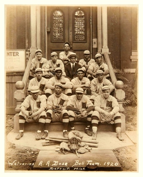 1920 Detroit Wolverine A.A. Base Ball TeamFrom the old days of the great Negro Leagues