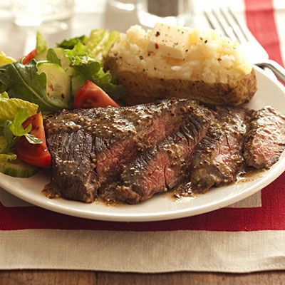 in-my-mouth:  Skirt Steak with Mustard Sauce