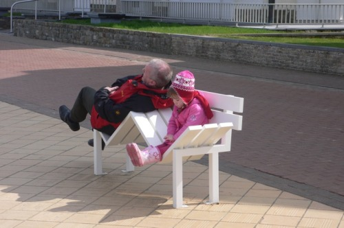 "'Modified Social Benches"" by Jeppe Heins in De Haan, Belgium."
