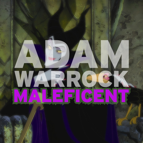 "New Free Track from Adam WarRock ""Maleficent"". ""This one goes out to all the vengeful, crazy, villainess Cruella de Vil bitches."""