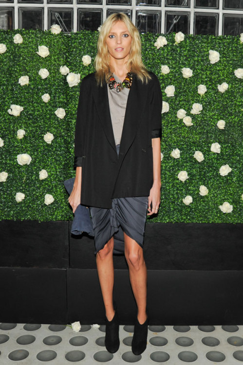 Anja Rubik at Net-a-Porter Party celebrating Frieze New York