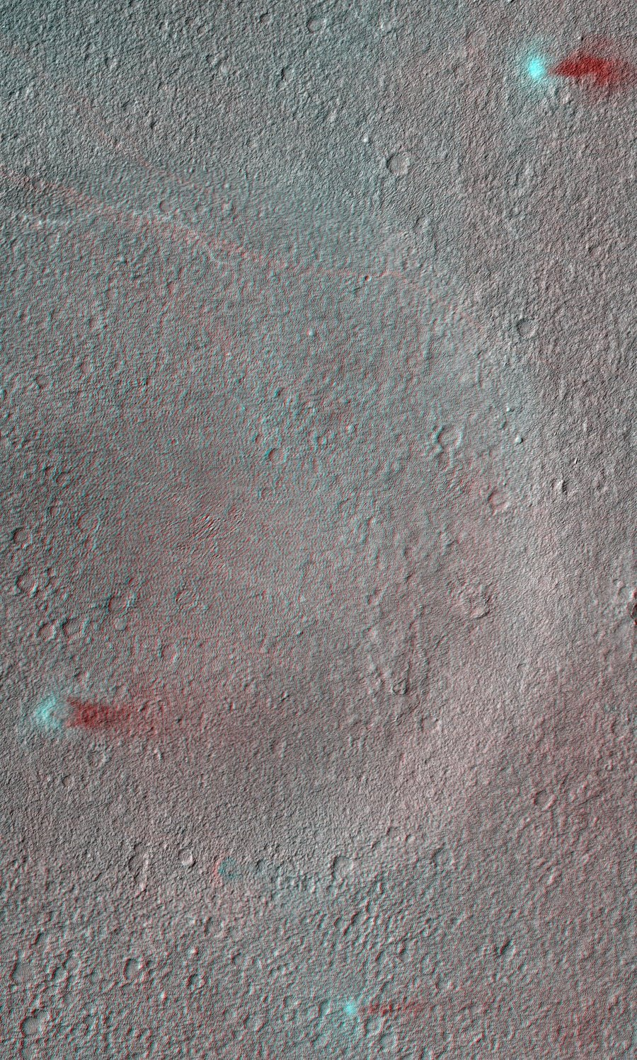 inothernews:  RULE OF THREES NASA's Mars Reconnaisance Orbiter captured this 3D image of three dust devils crisscrossing the Martian surface on February 11. (Photo via MSNBC)