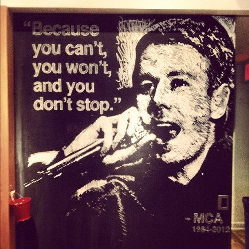 adampritzker:  RIP MCA - @GA chalk tribute (Taken with instagram)