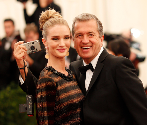 Rosie Huntington Whiteley at the Met Ball