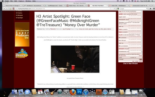Green Face (@GreenFaceMusic @TreTreasure @MidknightGreen) Article on @HipHopHeartBeat Click picture to read!