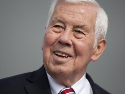 "Indiana Sen. Richard Lugar optimistic despite Tea Party challenge: ""We've got a vigorous campaign. I believe in fact that we're going to win the campaign,"" he said this morning about the primary challenge he's facing Tuesday. Lugar, an 80-year-old moderate Republican who has served six terms, is behind opponent Richard Mourdock by ten points according to some polls, and is barred from running as an independent in the general election by state law. So if he loses tonight, that's it. Think he'll win? (photo by James Brosher/AP)"