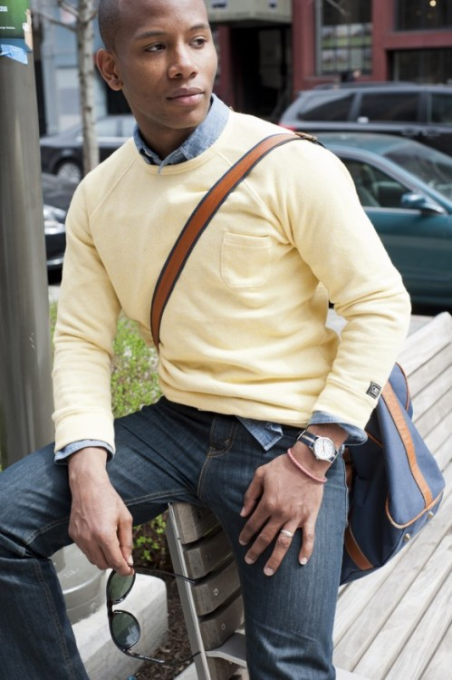 Sabir Peele in a great weekend look or in my case, an every day student look.