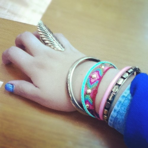 #tuesday #armswag #rings #bracelets 💍 (Taken with instagram)