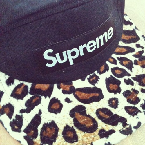 skinnyniggabigballss:  New hat😄 cheers gavin! #supreme #hat #cheetah #leopard #swag #tumblr (Taken with instagram)
