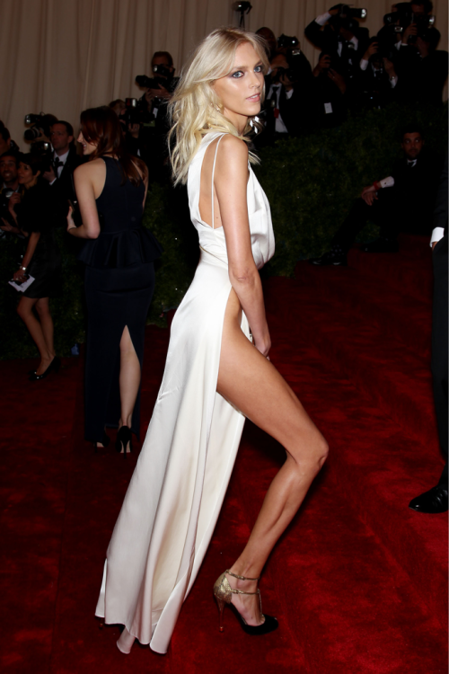 Anja Rubik at the Met Ball