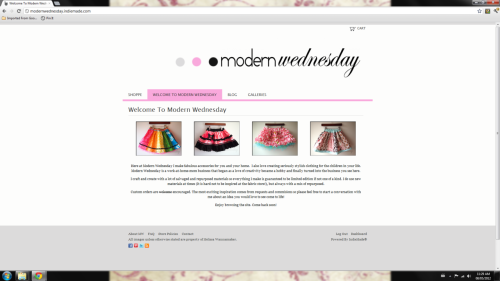 Modern Wednesday.com is open for business! After a lot of research I decided to open it at Indiemade.com. A very cool way to get website hosting, design and a shop under one 'roof' for a low monthly rate. More about that later! Head on over to my brand spanking new website and show me some love. There are three listings right now; boutique skirts for little girls. But more is to come, a little something for all ages and even the home. So like Modern Wednesday on Facebook to keep abreast of shop listings and giveaways!